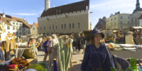 wwp1205: Best of 2005 - Medieval market in Old Town of Tallinn